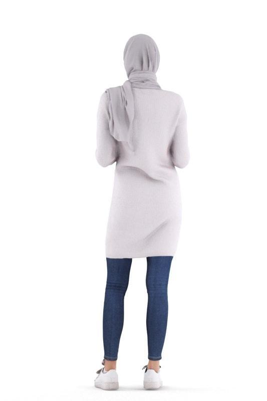 arabian woman posed 3d model renderpeople