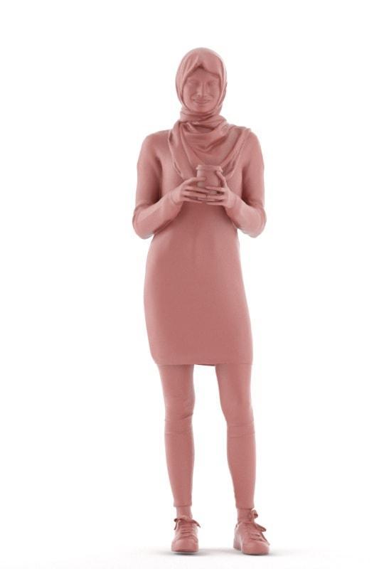 woman standing 3d model renderpeople