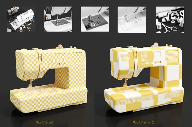 sewing machine 3d model turbosquid