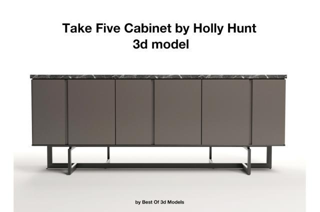 take five cabinet holly hunt 3d model