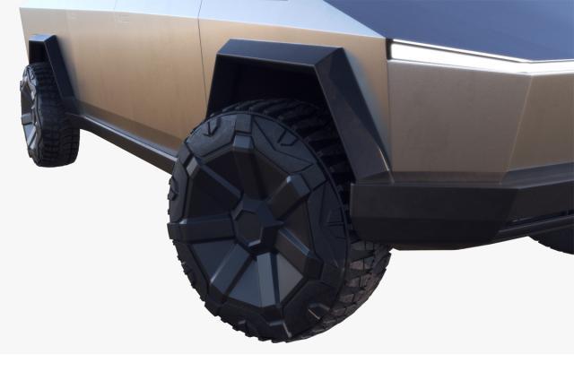 tesla future car 3d model turbosquid