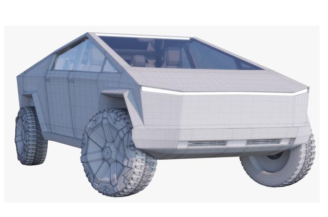 new Tesla Cybertruck from Elon Musk 3d model turbosquid