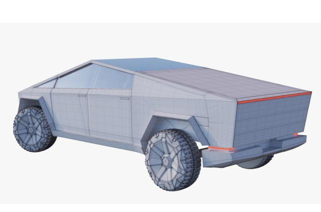 modern electric car 3d model turbosquid