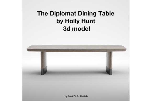 The Diplomat Dining Table 3d model by Holly Hunt