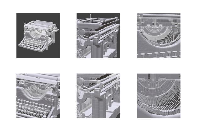underwood typewriter ribbon 3d model turbosquid