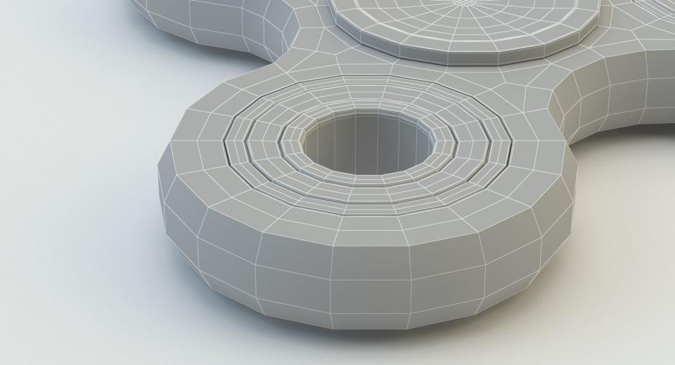 3d model of a fidget hand spinner