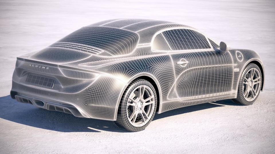 3d model of a car