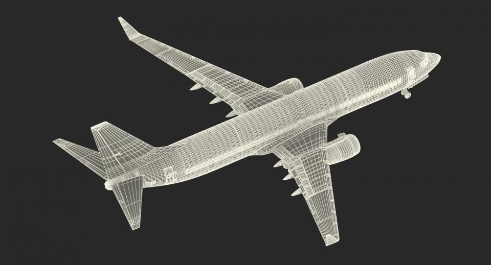 aeroplane rigged 3d model turbosquid