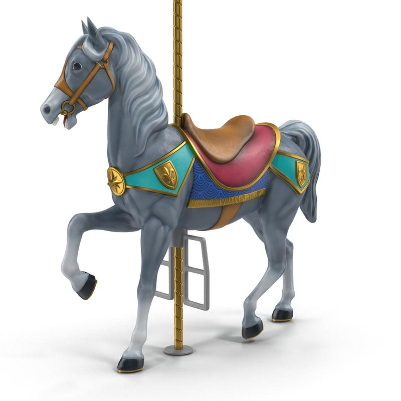 toy wooden horse 3d model turbosquid