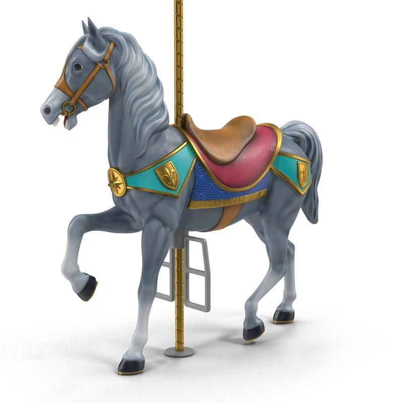 toy wooden horse 3d model turbosquid