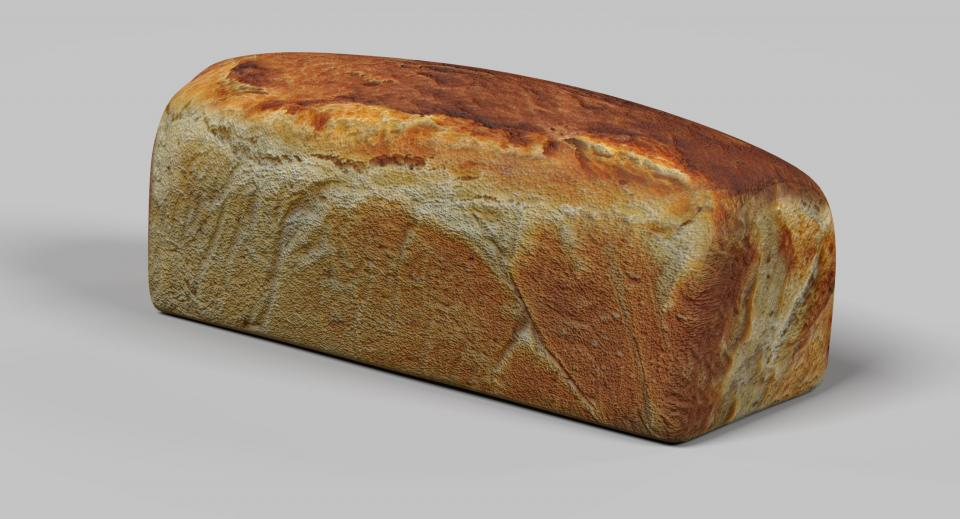 loaf of bread 3d model