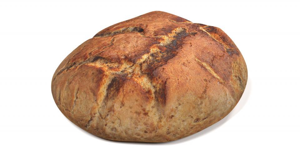 round bread 3d model