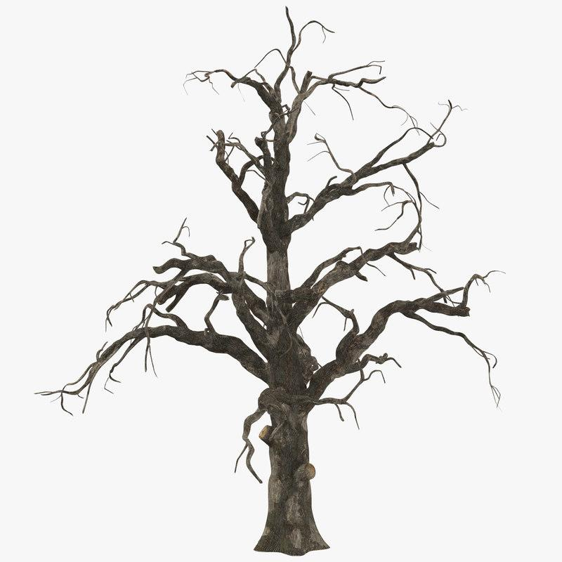 3d model spooky tree