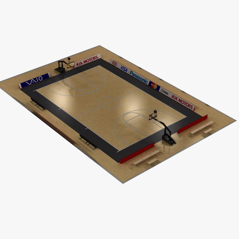 stadium for basketball 3d model turbosquid