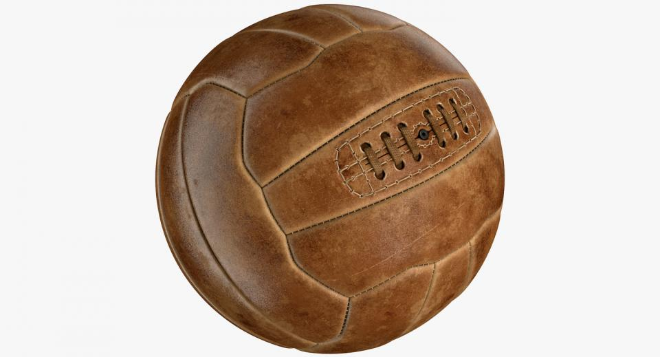 vintage soccer ball 3d model turbosquid
