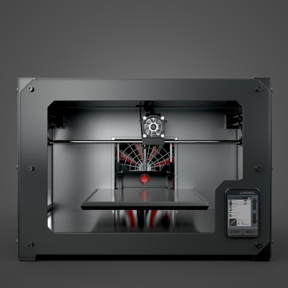 3d model of a 3d printer