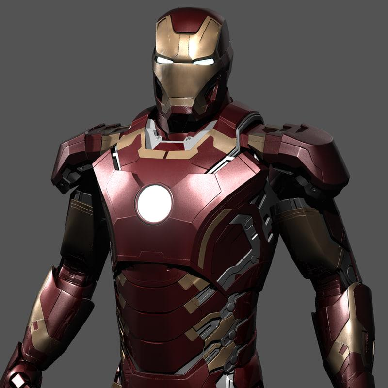 iron man age of ultron 3d model turbosquid