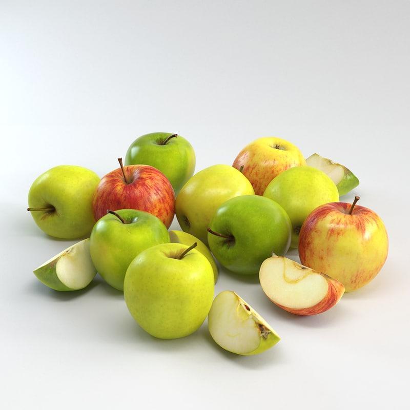 3d model of apples
