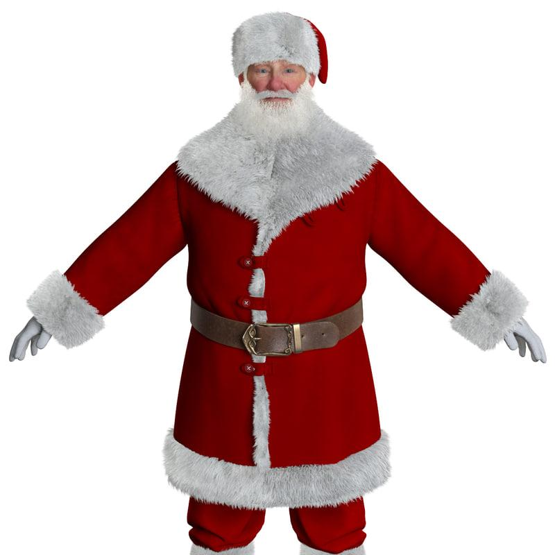 3d asset santa claus 3d model turbosquid