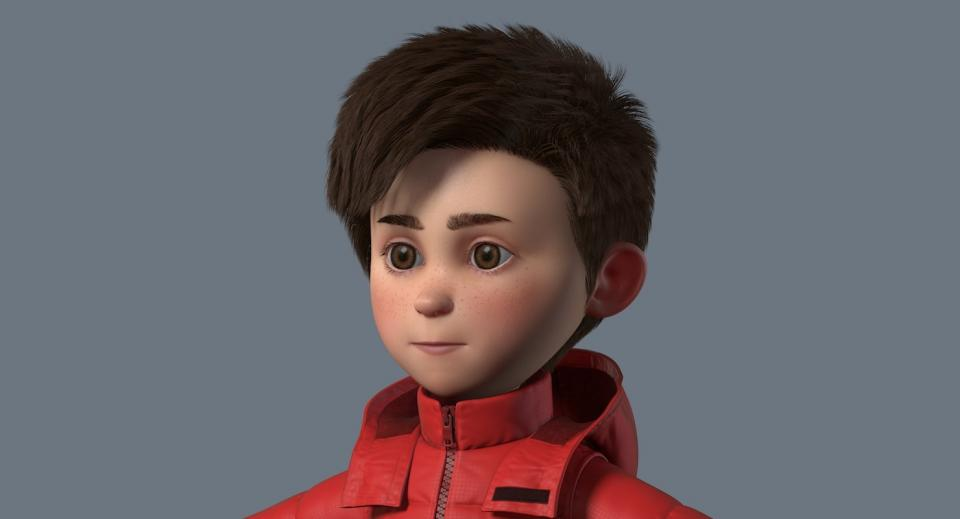 male child 3d model turbosquid