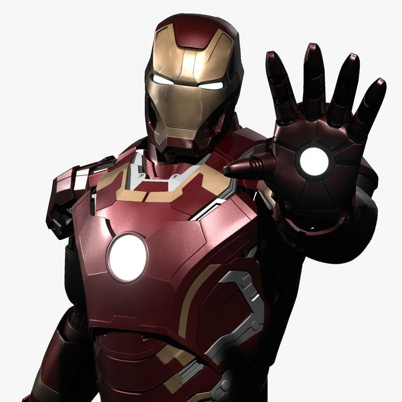 iron man power pose 3d model turbosquid
