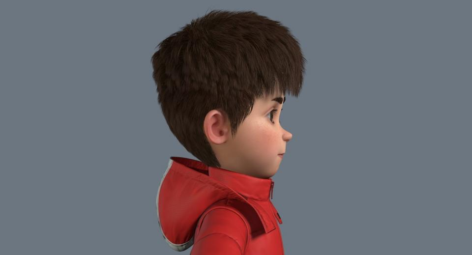 realistic cartoon boy 3d model turbosquid