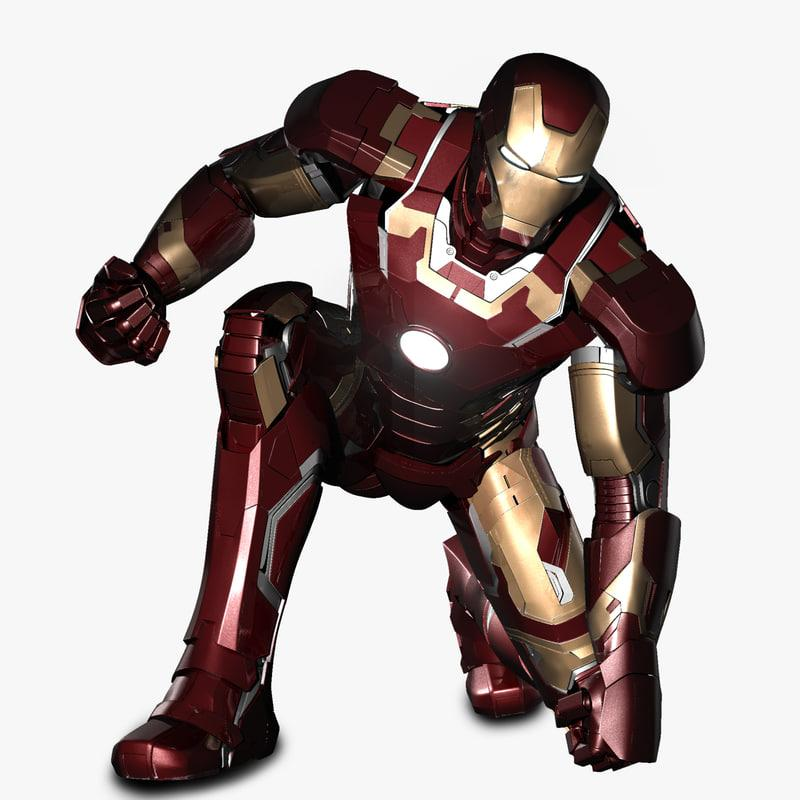 iron man landing pose 3d model turbosquid