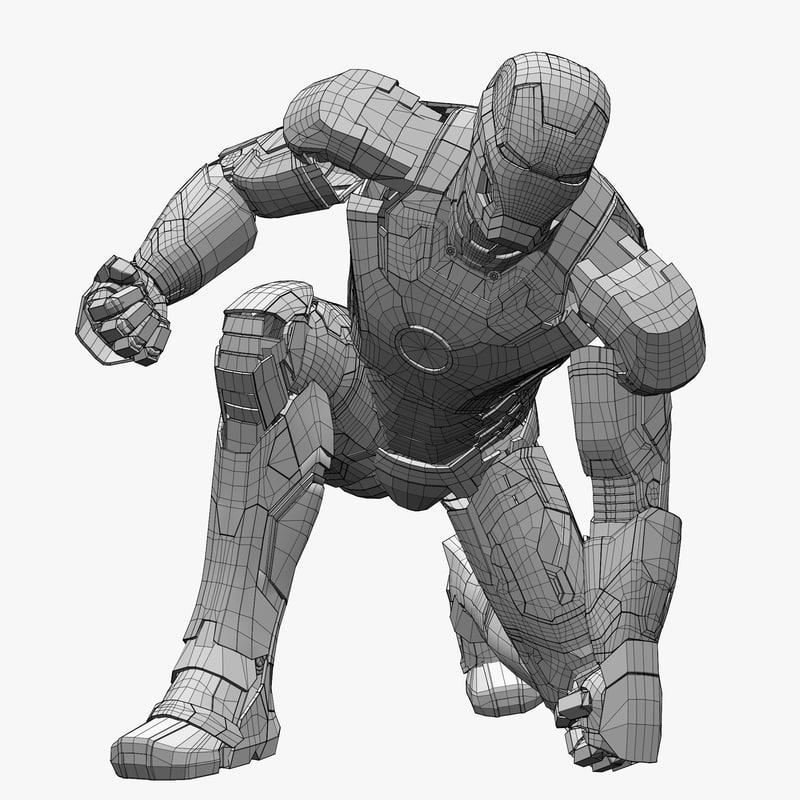 avengers landing pose 3d model turbosquid