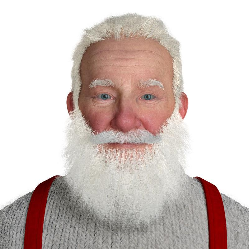 santa claus realistic 3d model turbosquid