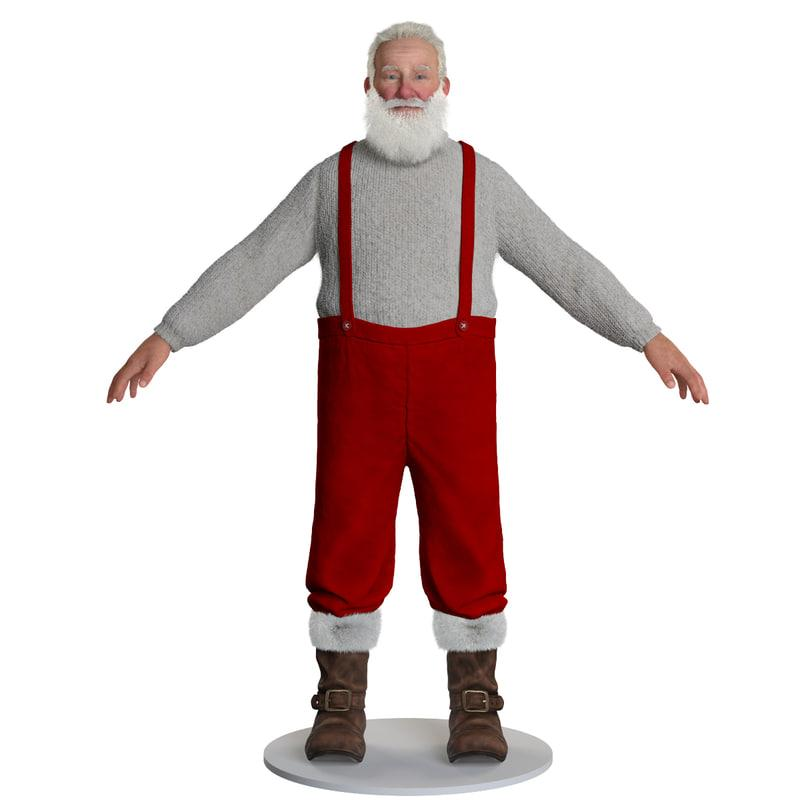 full body santa claus 3d model turbosquid