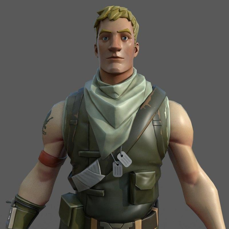 fortnite male character 3d models turbosquid