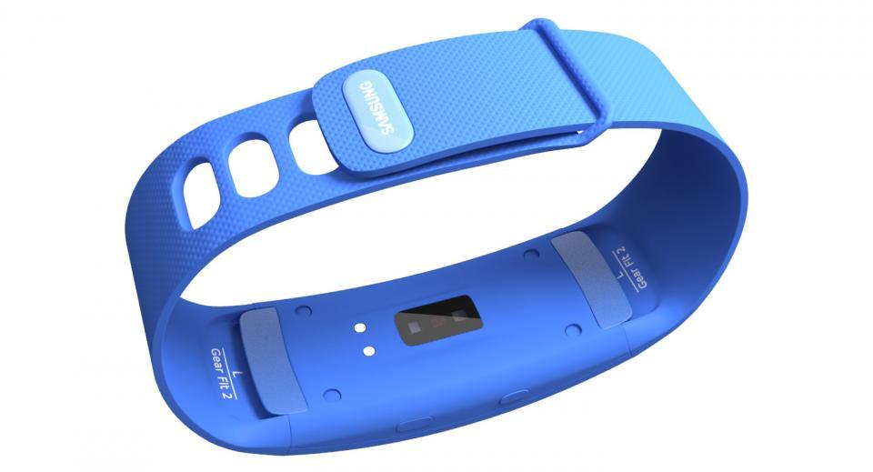 blue smart watch 3d model
