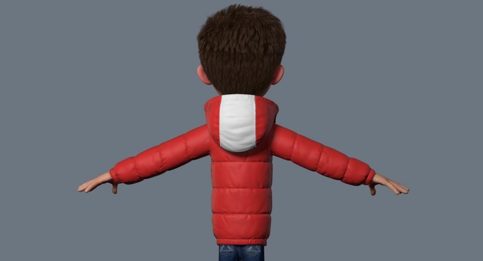 boy figure 3d model turbosquid