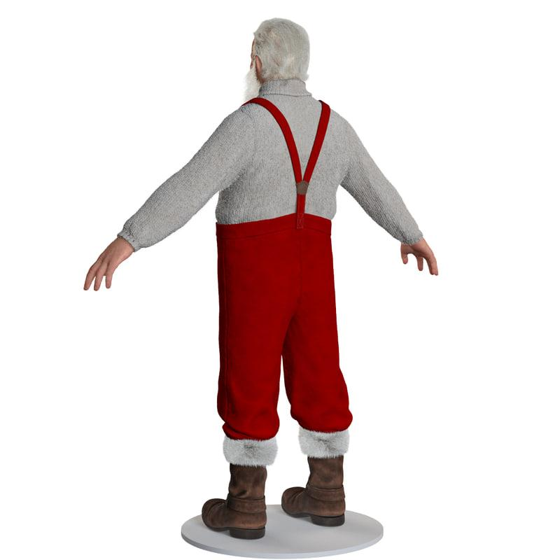 father christmas full body 3d model turbosquid
