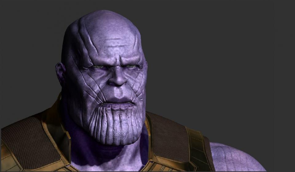 thanos face 3d model turbosquid