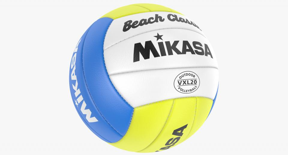 3d model of a volleyball