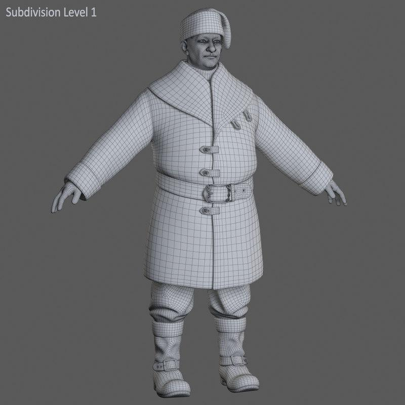 Babbo Natale full body 3d model turbosquid 3ds max