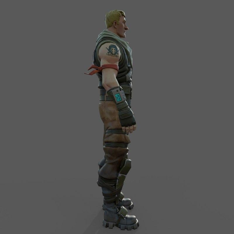 fortnite jonesy 3d model turbosquid