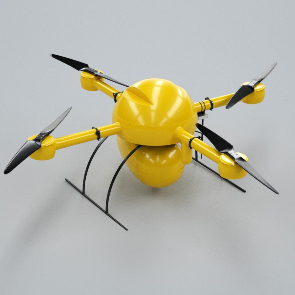 3d model of a drone