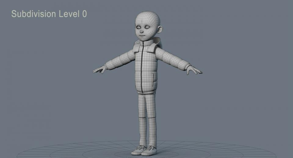 cartoon character 3d model turbosquid