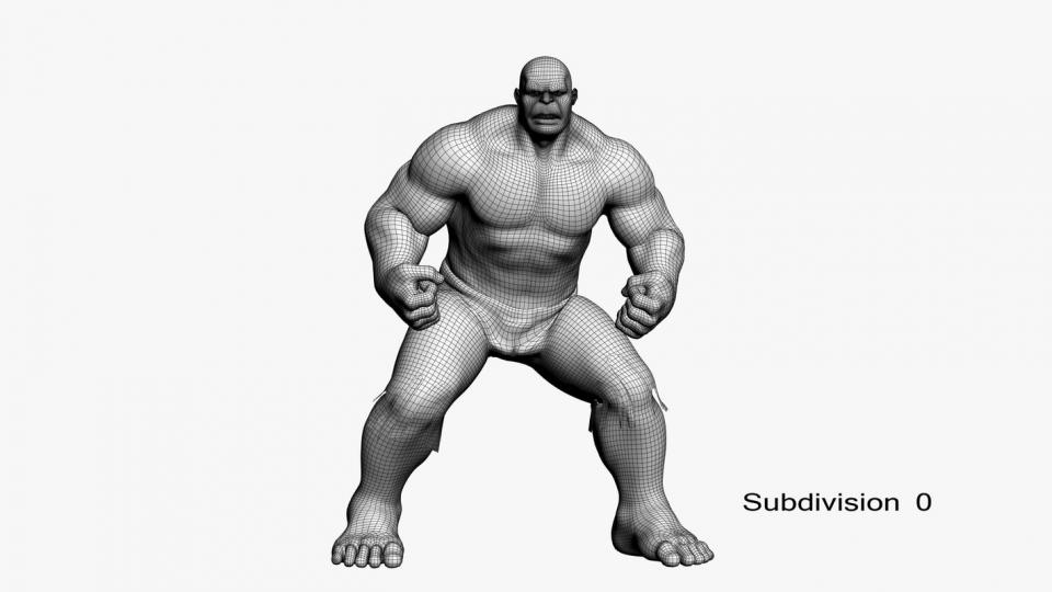 hulk maya 3d model turbosquid