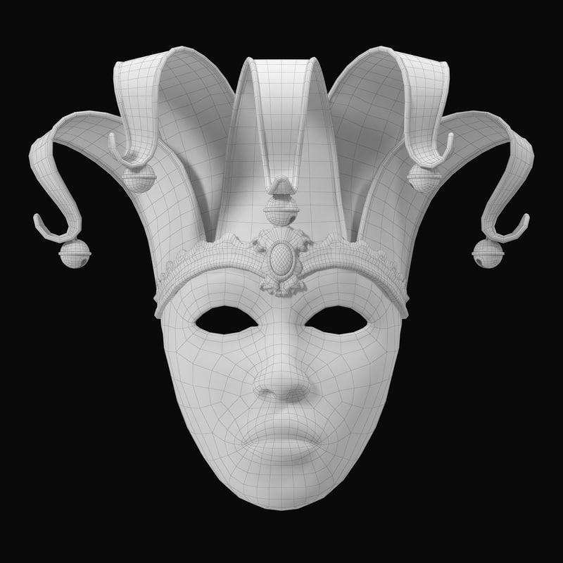 pancake tuesday mask 3d model turbosquid