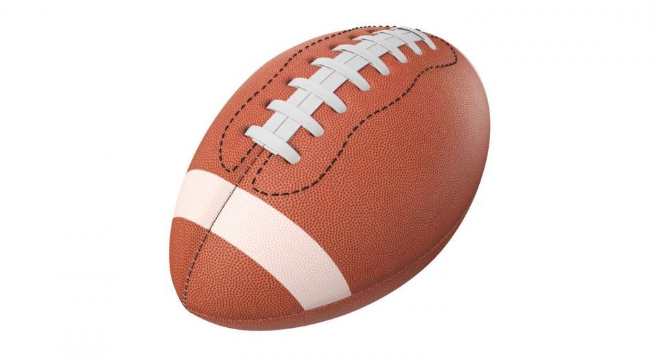 american football 3d model turbosquid