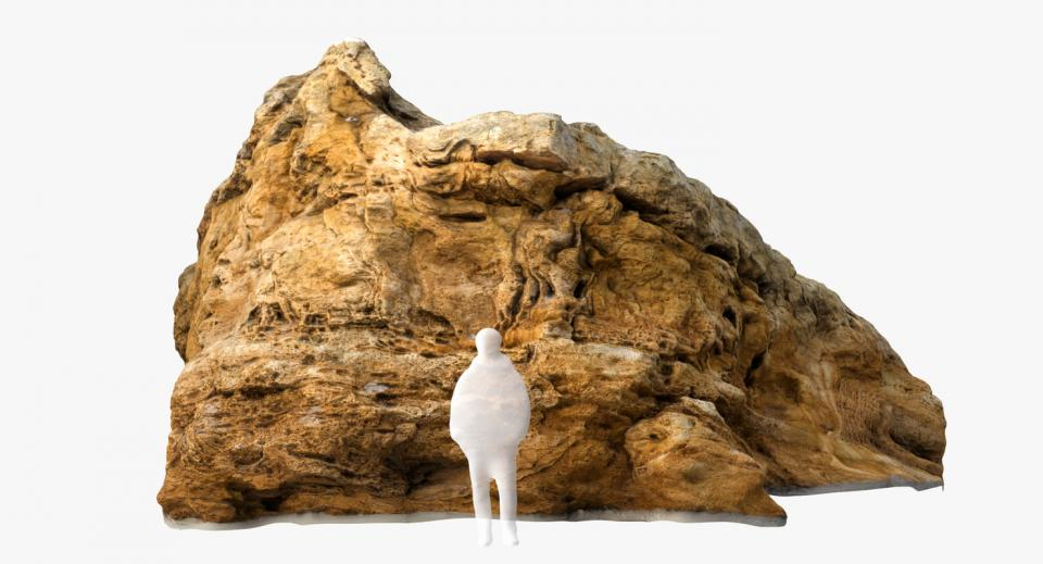 large mineral rock 3d model turbosquid