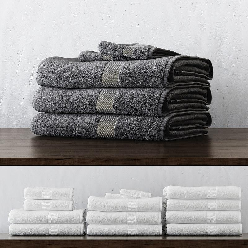 towels 3d model turbosquid