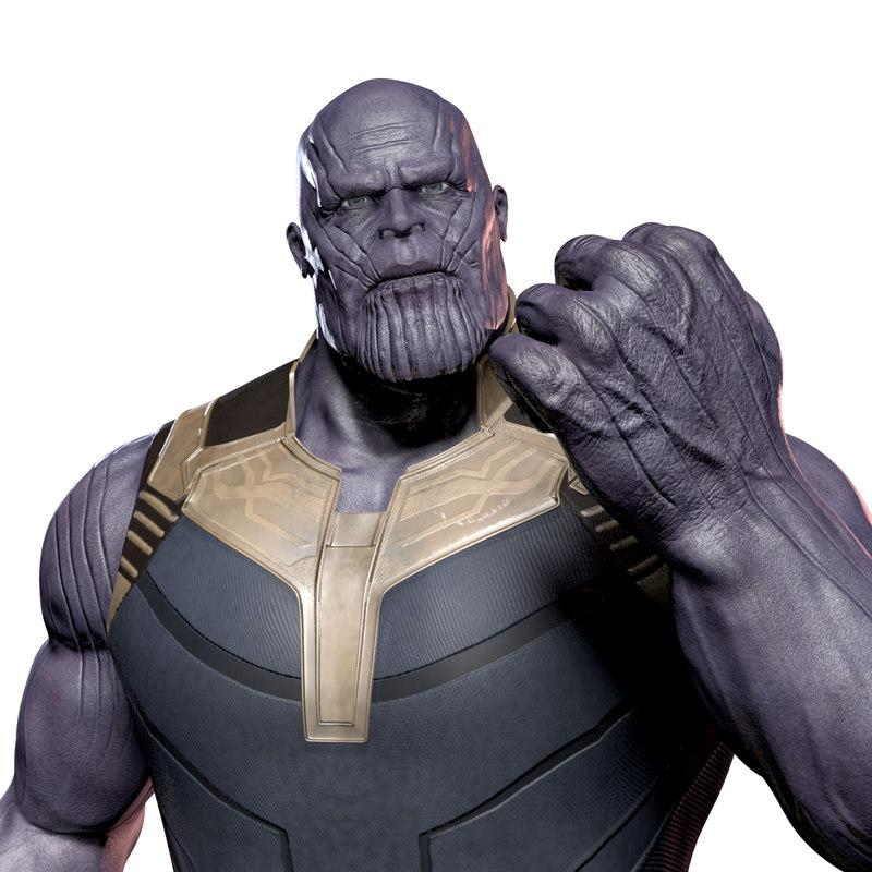 thanos war pose 3d model turbosquid