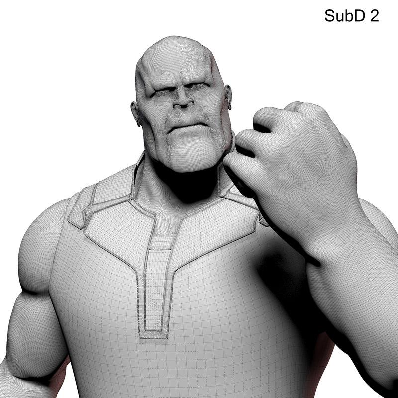 thanos maya 3d model turbosquid