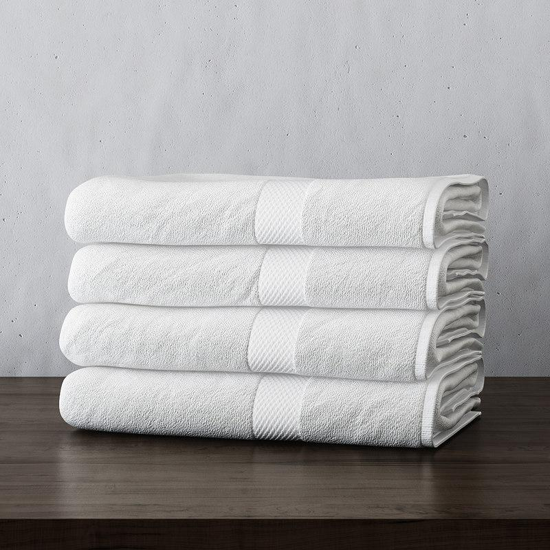 bathroom towels 3d model turbosquid