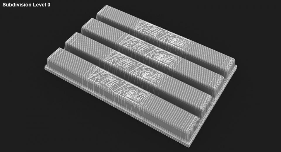 kit kat chocolate 3d model turbosquid