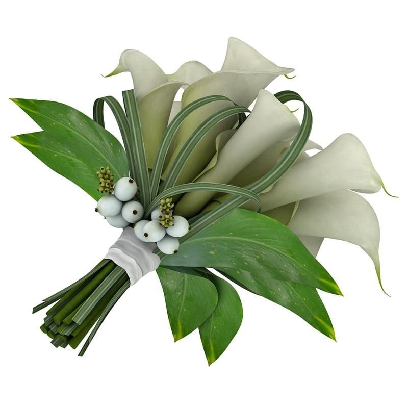 wedding bouquet 3d model turbosquid